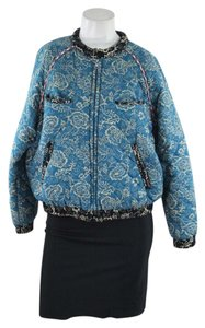 Isabel Marant Quilted Bomber Teal Jacket