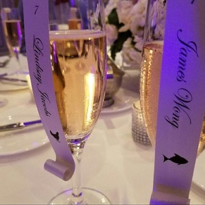Personalized Meal Choice Champagne Flute Escort /place Card Scrolls