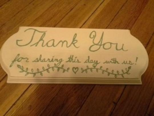 Lavender and Sage Green Handpainted Signs Reception Decoration
