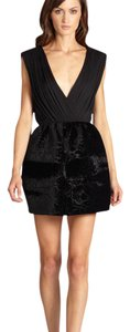 Alice + Olivia Silk Velvet Lbd Dress