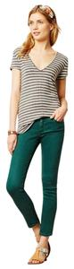 AG Adriano Goldschmied Green Stevie Ankle Ankle Skinny Skinny Jeans-Medium Wash