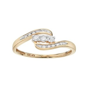 Other Round-Cut Diamond Swirl Ring in 10k Gold (1/4 ct. T.W.)