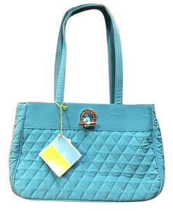 Vera Bradley Solid Quilted Tote in Teal