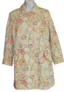 Ann Taylor LOFT Cotton Lined Raincoat