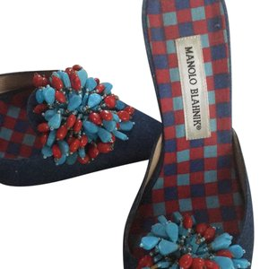 Manolo Blahnik Denim with others.. Mules