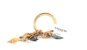 Coach Coach Stars Key Ring Multi Mix New with Tag