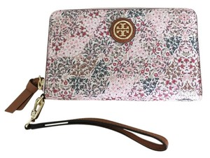 Tory Burch Limited Edition Floral Wristlet in Pink/Cream/Blue/Green