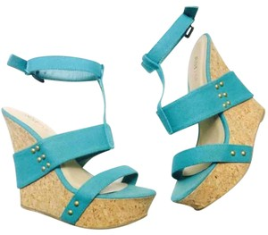 JustFab Teal Wedges