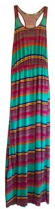 Striped Maxi Dress by Michael Stars Bold Bright Soft