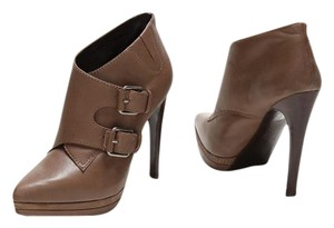Pelle Moda Leather Pointed Toe Buckle brown brownish-grey Boots