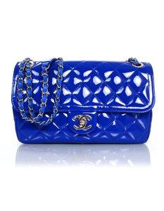 Chanel Patent Leather Quilted Shoulder Bag