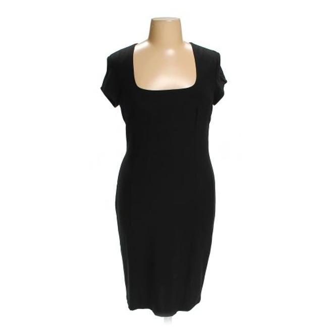 Item - Black Cocktail Shaping Mid-length Work/Office Dress Size 16 (XL, Plus 0x)