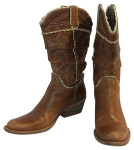 BCBGMAXAZRIA Light brown Boots