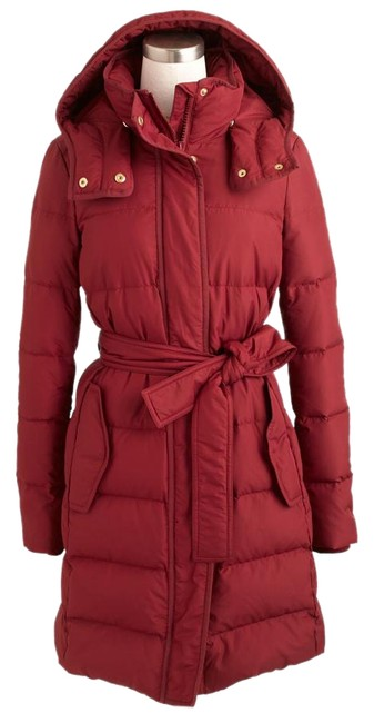 Item - Red Quilted Long Coat Size 12 (L)