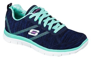 Skechers Navy/Aqua Athletic