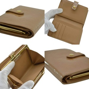 Louis Vuitton French Beige Vernis Kisslock Bifold Wallet with Coin Pocket France