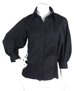 Donna Karan Button Down Shirt Black