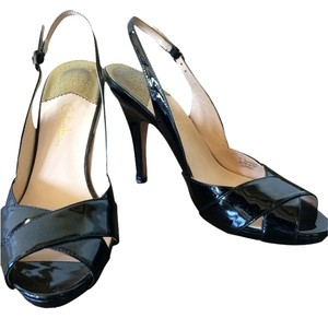 Cole Haan Patent Leather Evening Night Out Date Night Formal Comfortable Slingback Pumps