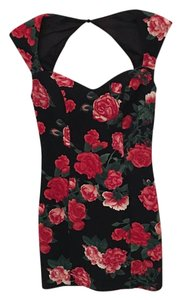 Guess short dress Black, Flower Print on Tradesy