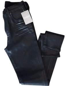 Citizens of Humanity Skinny Pants Black Leather