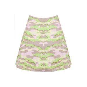 Carven Mini Skirt Purple, Green, Yellow, Tan