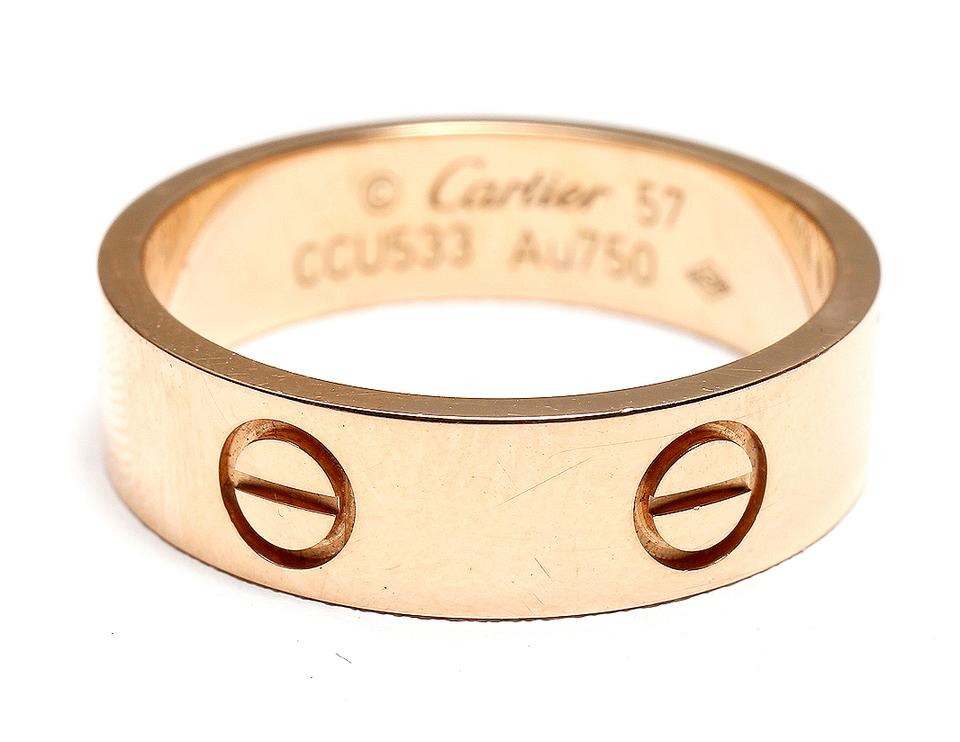 Cartier Yellow Gold Rose Love Ring - Tradesy