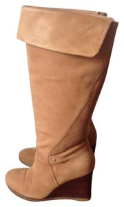 UGG Australia Ravenna Wedge Leather Tan Boots