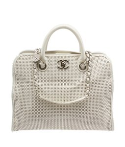 Chanel Up In The Air Tote in White