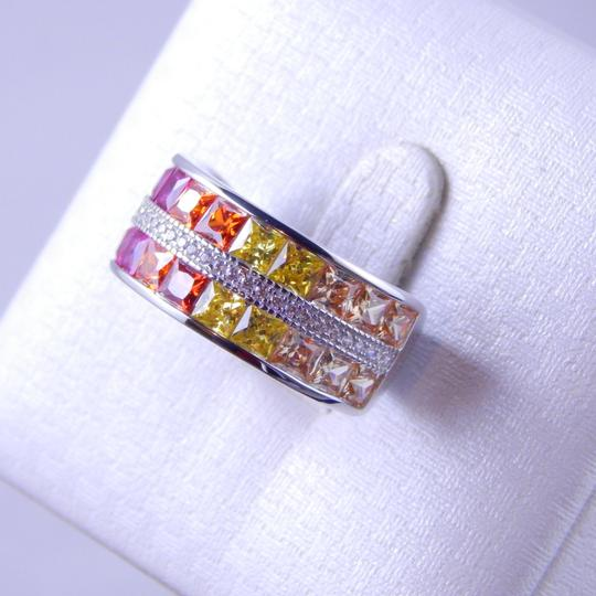 Other RAINBOW SAPPHIRE CHANNEL SET W/CZ ACCENTS STERLING SILVER Image 1