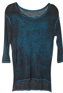 Free People T Shirt Blue/Black