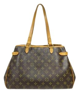 Louis Vuitton Batignolles Monogram Canvas Leather Shoulder Bag