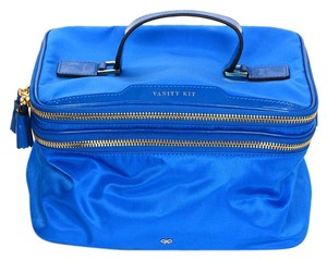 Anya Hindmarch Travel Vanity Travel Case Jewelry Case blue Travel Bag
