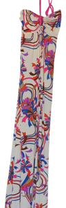 Cream and bright colors Maxi Dress by Veronica M