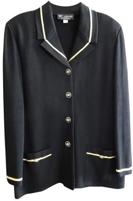 Preload https://item3.tradesy.com/images/st-john-black-with-yellow-trim-jacket-2021662-0-0.jpg?width=400&height=650