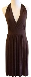 Brown Maxi Dress by Three Dots 92% Viscose 8% Spandex Made In Usa Handwash Cold Line Dry