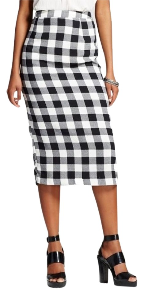 c235d7f3d3 Who What Wear x Target Black White For Gingham Pencil Skirt Size 6 ...