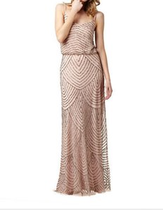 Adrianna Papell Champagne 091866700 Dress