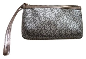 DKNY Wristlet in Metallic Silver