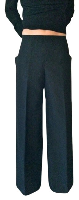 Kei Kagami Wool Wide Leg Pants Black