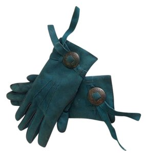 Other Teal Suede kid gloves