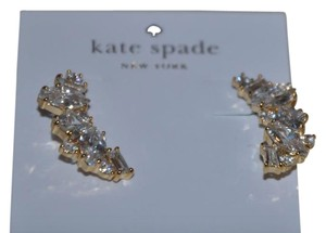 Kate Spade NWT KATE SPADE CLUSTER CRAWLER EARRINGS W DUST BAG GOLD CLEAR