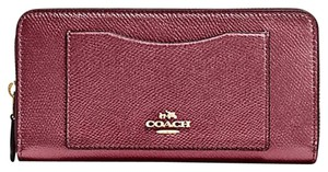 Coach Coach ACCORDION ZIP WALLET IN CROSSGRAIN LEATHER F 54007 NWT