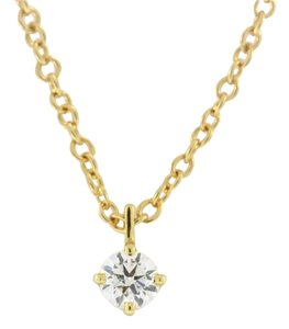 Solitaire Diamond Necklace- 18k Yellow Gold (0.3 ct) GIA Certified