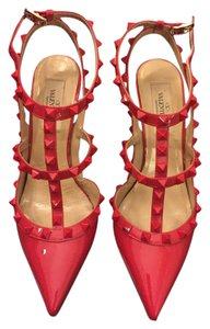 Valentino Rockstud Heels Red Pumps