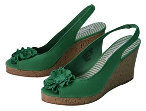 American Eagle Outfitters Green Wedges
