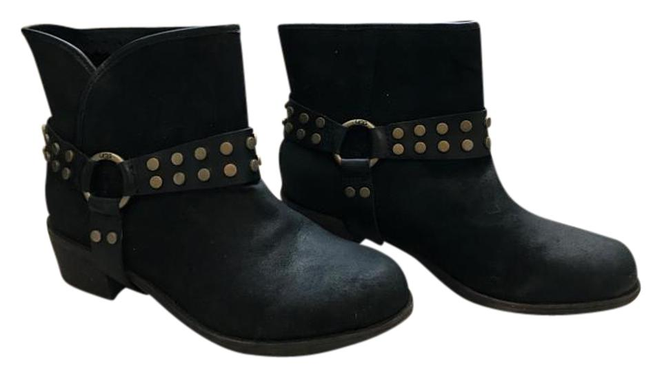 a390a708c92 UGG Australia Black New Darling Suede Ankle Harness Boots/Booties Size US 6  Regular (M, B)