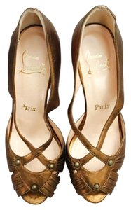 Christian Louboutin Laminato/Bronze Copper Platforms
