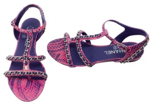 Chanel Pink/Purple Sandals