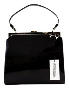 Mansur Gavriel Patent Leather Handbag Mansur Evening Tote in Black/Gold