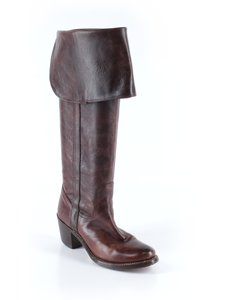Frye Leather Knee High Riding Over The Knee Cowboy Brown Boots